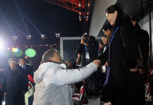 Koreas share historic handshake at Olympic opening ceremony