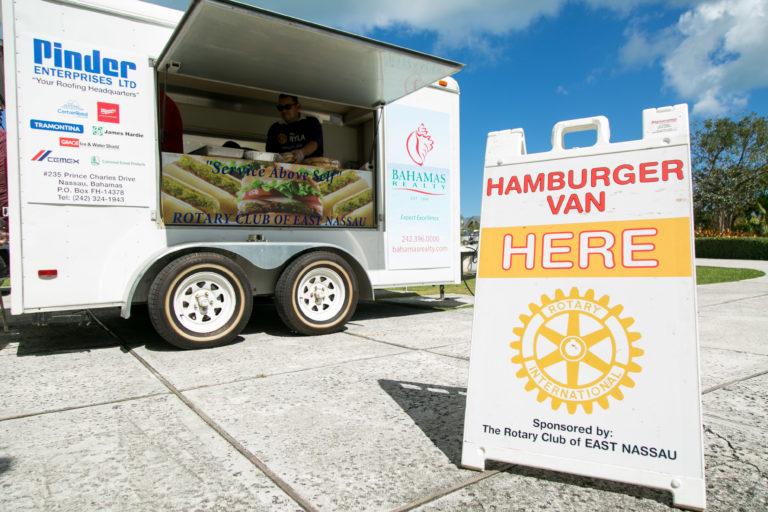 Rotary Burger van gets facelift from Bahamas Waste