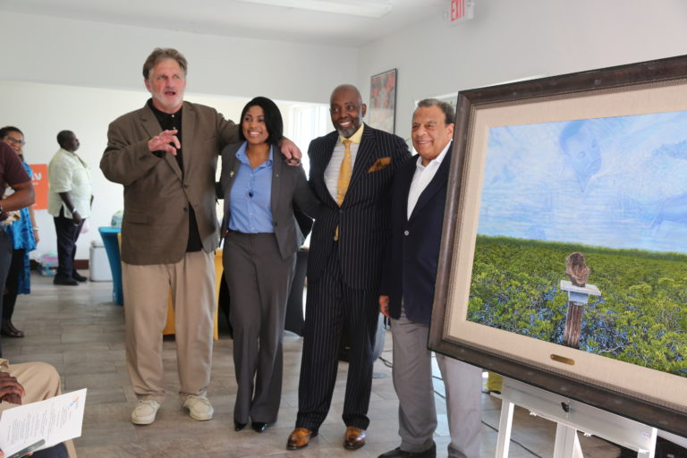 Spirit of Martin King Jr. Lives on in Bimini as Painting Unveiled