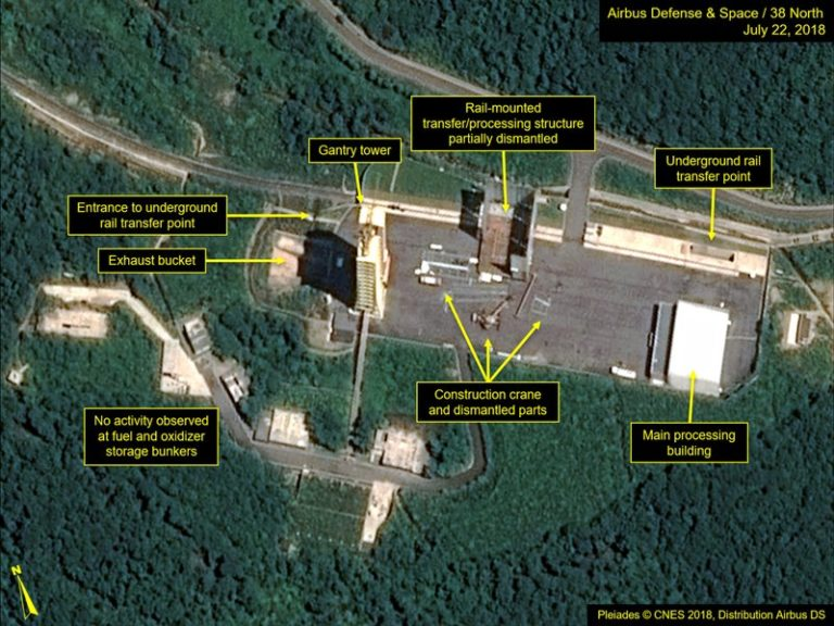 Trump pleased as NKorea seen dismantling launch site parts