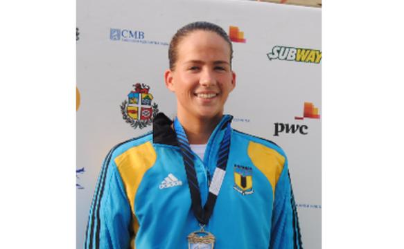 Evans wins third gold medal