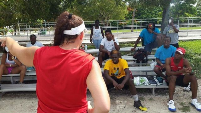 Blue Chips throwing camp gets underway