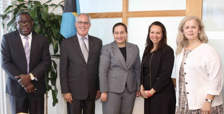 US Department of State Officials Pay Courtesy Call on Minister Symonette