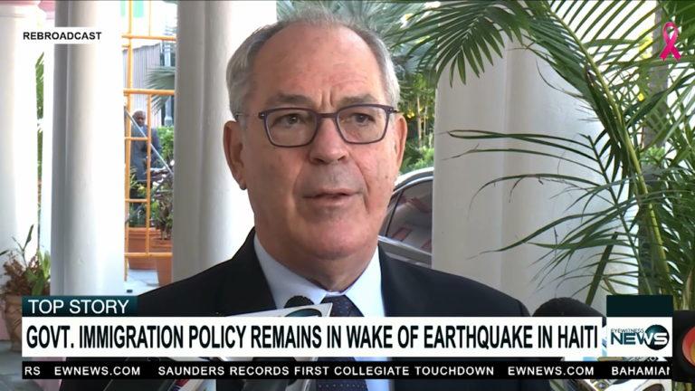 Symonette: Govt. on alert following Haiti's earthquake