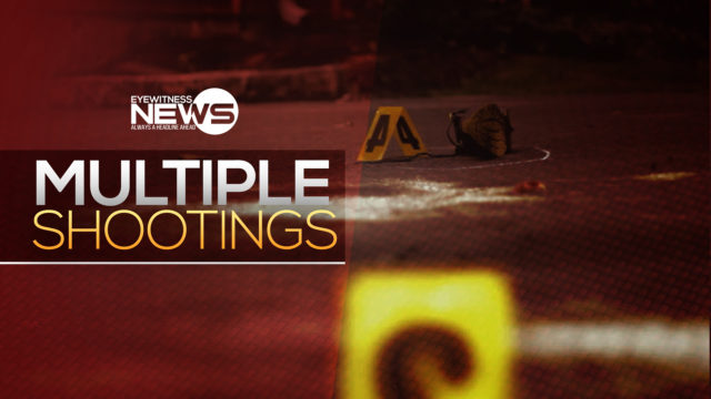 Five men shot in two incidents