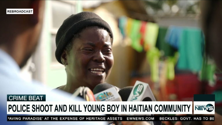Police-involved shooting in Haitian shanty town