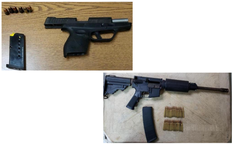 Police recover two illegal firearms in separate incidents