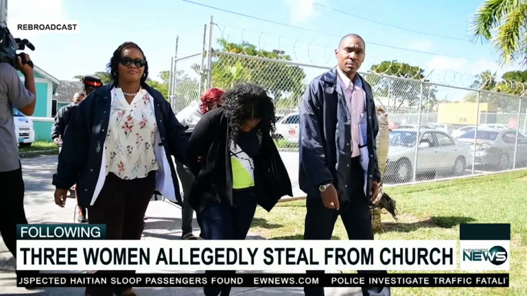 Three women charged with stealing from the church
