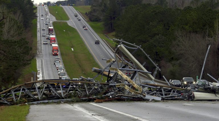 At least 14 dead as storms, possible tornados hit Deep South