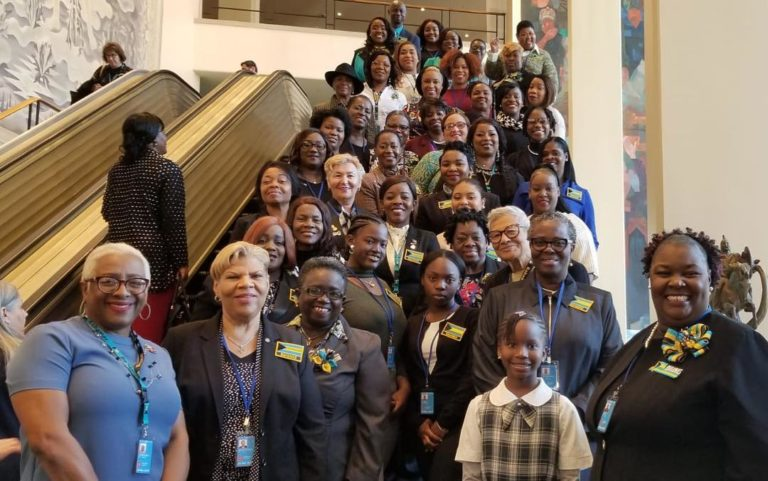 Young Bahamian females participate in UN gender equality talks