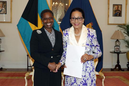 Justice Estelle Gray-Evans sworn in as Acting Chief