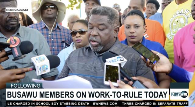 BUSAWU members lead work-to-rule demonstration