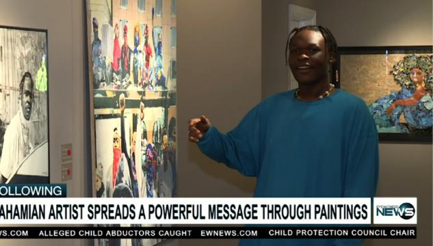 Bahamian artist evoking 'FEAR'
