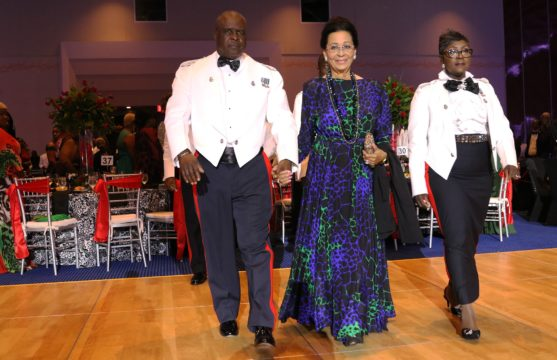 Governor's General H.E. Dame Marguerite Pindling is stunning at annual Police Ball