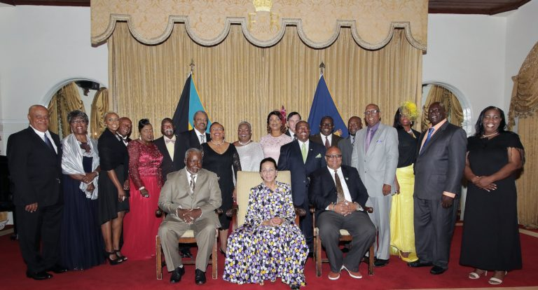 Bahamas Softball Federation hall of fame induction at government house