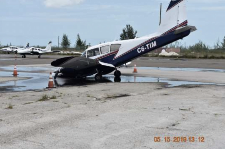 Plane sustained significant damage after falling into pothole at airport