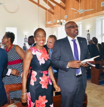 Prime Minister Minnis attends Mother's Day church service in Long Island