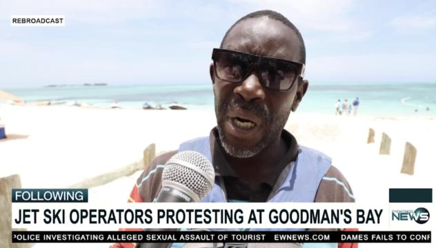 Irate Goodman's Bay jet ski operators demonstrate