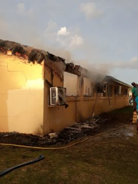 Fire guts single block of Huntley Christie High School in North Andros