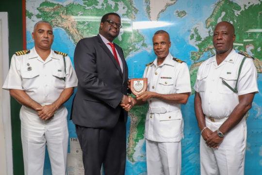 Bahamas Bar Association president pays courtesy call on RBDF commander.