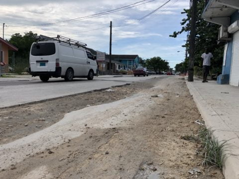 Dug-up stretch of arterial road poses threat to safety, says motorists