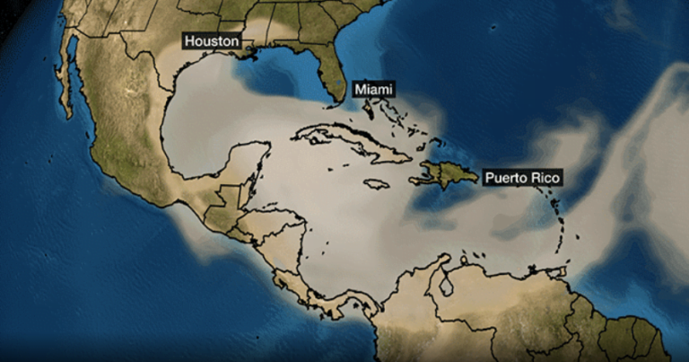 Saharan Dust plume expected through end of the week