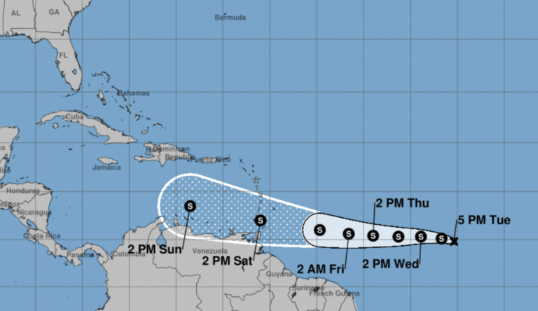 Tropical depression picks up speed, projected to develop into storm today
