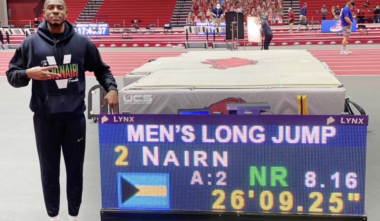 Nairn sets Bahamian long jump record