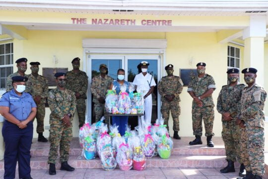 RBDF presents Easter baskets to children's homes