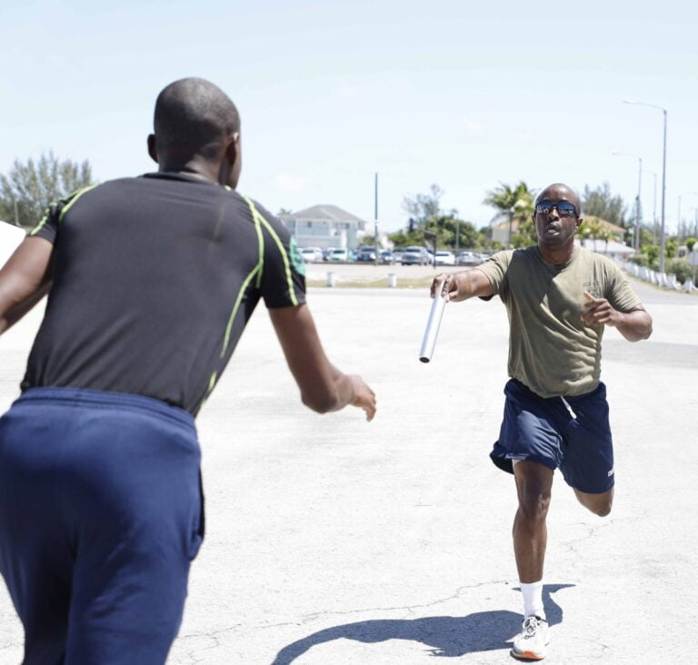 RBDF concludes Health and Fitness Month with one-mile relay