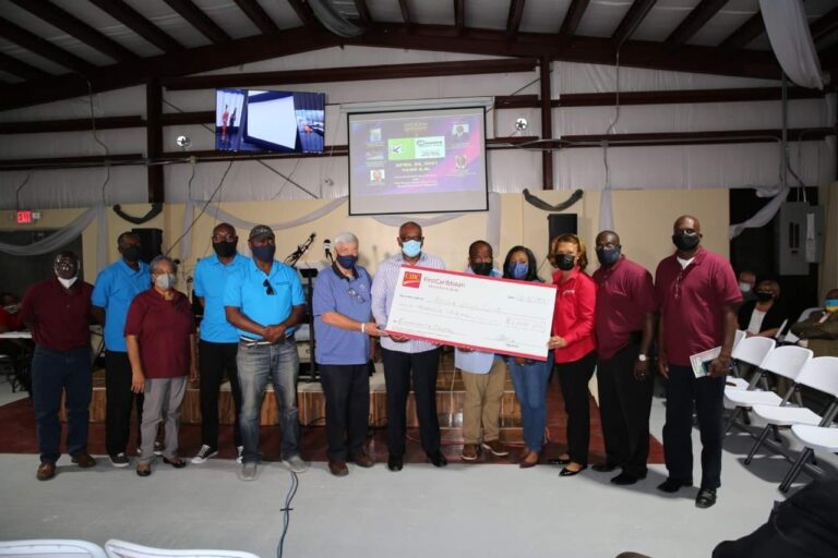 First donation toward Champs Community Center's second phase presented by CIBC FirstCaribbean