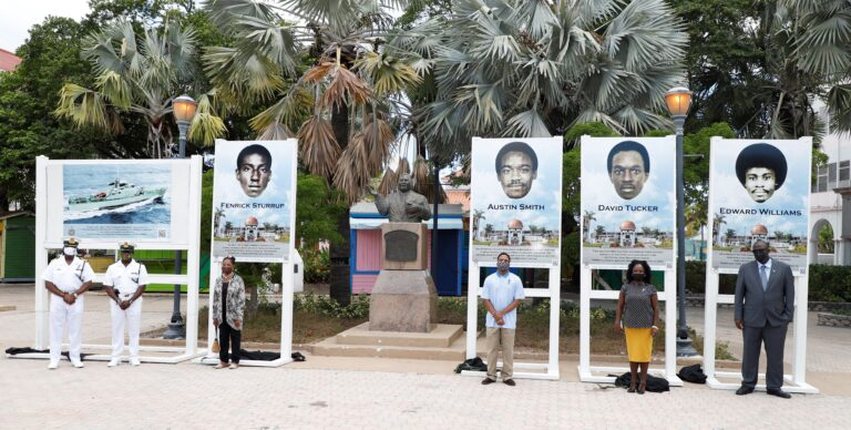 RBDF unveils portraits of fallen marines in remembrance of HMBS Flamingo