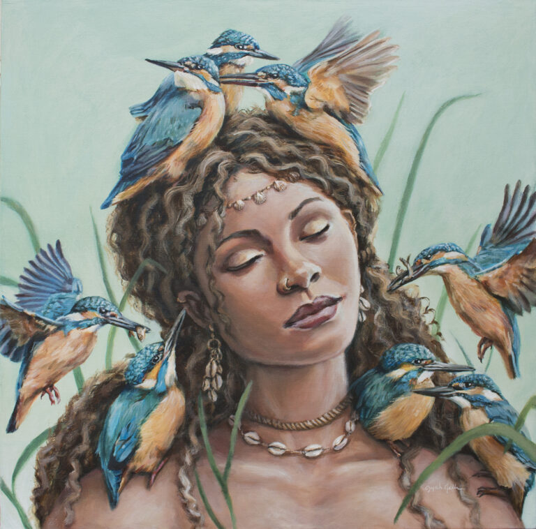 Local artist Dyah Neilson lives in her paintings