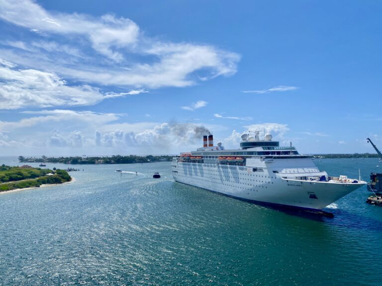 Bahamas Paradise Cruise Line welcomes Grand Classica back into Port of Palm Beach in anticipation of July resumption of cruising
