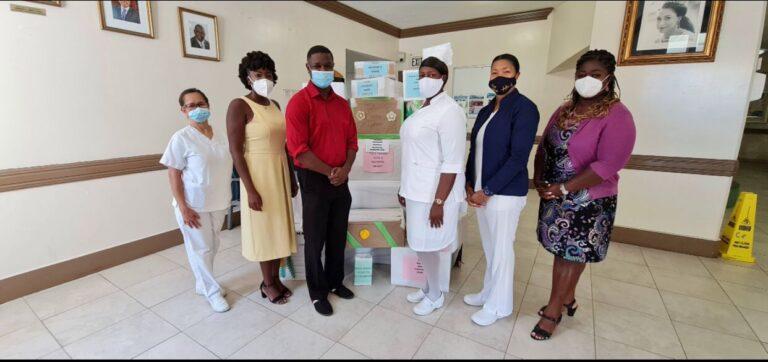 PMH Nurses present Nurses Month Food Bank to the Ranfurly Home for Children