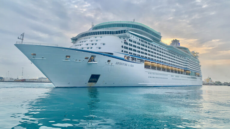 Royal Caribbean arrives to warm welcome on GB