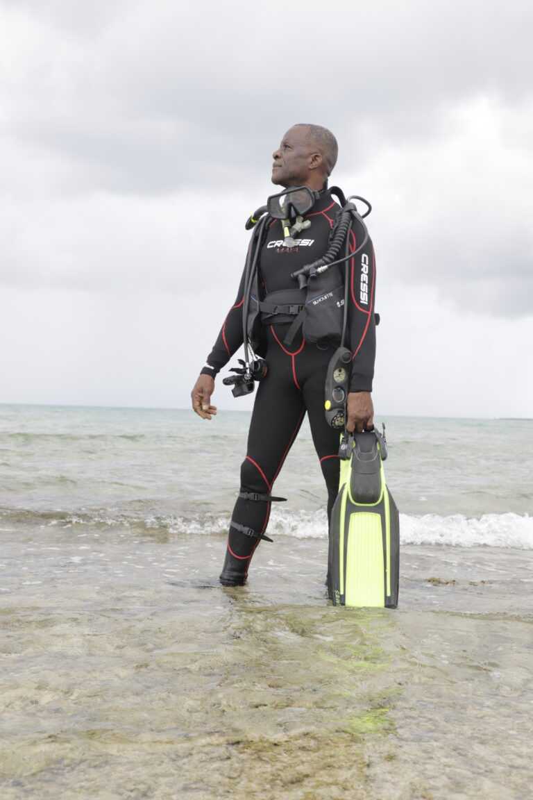 Leading Seaman Simeon Gardiner becomes founding father of diving in RBDF