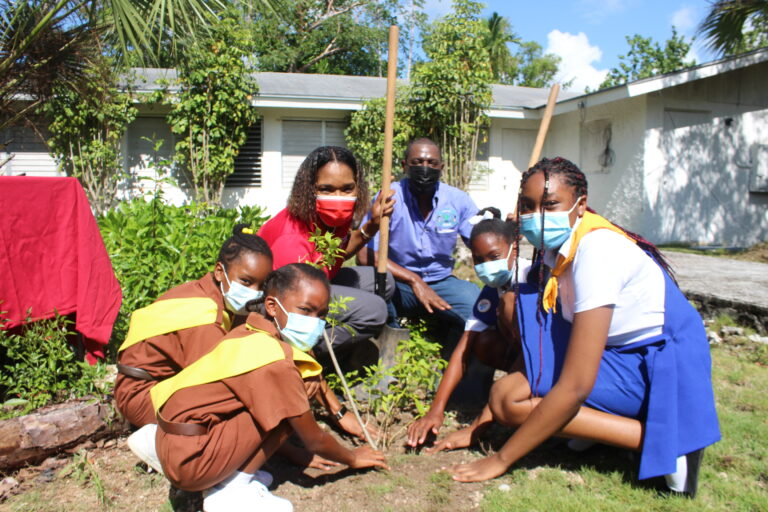 100 trees planted for CIBC FirstCaribbean's 100th year banking anniversary