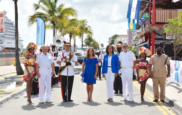 Bahamas celebrates debut of Crystal Cruises' homeport in Nassau