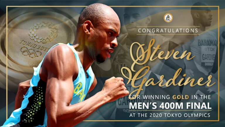 STEVEN TAKES GOLD: Prime minister congratulates young runner on Olympic win